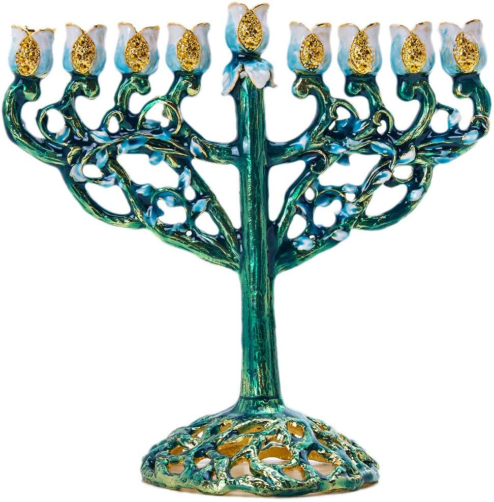 Lighting Chanukah Candles With Electric Bulbs